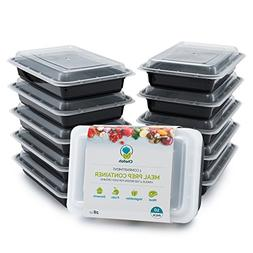 10-Pack 1 Compartment Meal Prep Containers with Lids, 28 oz