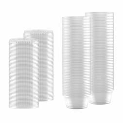 100-Pack of 2-oz Clear Plastic Container with Snap on Leak-P