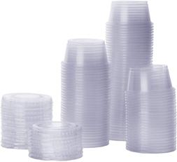 Plastic Disposable Portion Cups With Lids, Souffle Cups,Cond