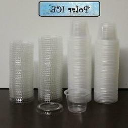 Polar Ice 125 Count Jello Shot Souffle Cups and Lids, 1-Ounc