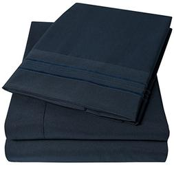 1500 Supreme Collection Extra Soft Full Sheets Set, Navy Blu
