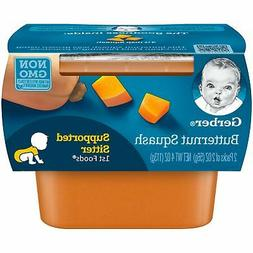 Gerber Purees 1st Foods Butternut Squash Tubs Eight  2-count