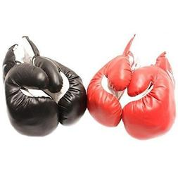 2 PAIRS KIDS 4 OZ BOXING GLOVES YOUTH PRACTICE TRAINING Faux