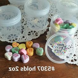 20 NEW Plastic 2 Ounce Empty Cosmetic Candy Container Jar Sc