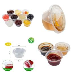TashiBox 200 Sets - 2 Ounce Disposable Plastic Jello Shot Cu