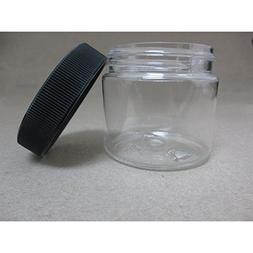 24 PET Plastic 2 Oz Empty Clear Containers Cosmetic Jar Cap