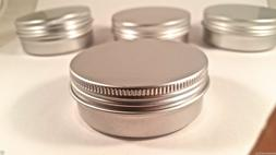 2oz Aluminium Empty Cosmetic Pot Jar Tin Container Silver Bo