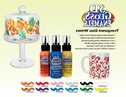 DecoArt 3D GLOSS ENAMEL Transparent Glass Paint WRITERS 2 oz