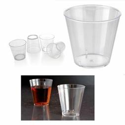 50 Clear Shot Glasses 2 oz Hard Plastic Disposable Cups Wine