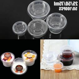 50-100pcs/Set Small Plastic Sauce Cups Food Storage Containe