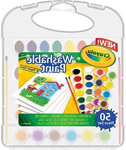 Crayola Washable Paint & Paper Set, 50 Pieces Art Tools for