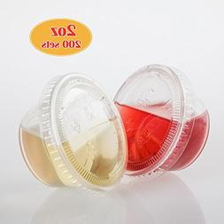 GOLDEN APPLE, 2-Ounce Clear Plastic Jello Shot Souffle Cups
