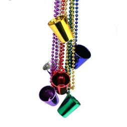 Mardi Gras Shot Glass Beads : package of 12