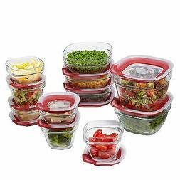 Rubbermaid Easy Find Lids Glass Food Storage Containers, Rac
