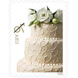 USPS Wedding Cake 70-cent Stamp 100 Stamps : 2 ounce rate