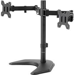 VIVO Dual LED LCD Monitor Free-standing Desk Stand with Opti