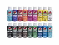 Apple Barrel Acrylic Paint Set, 18 Piece , PROMOABI Assorted