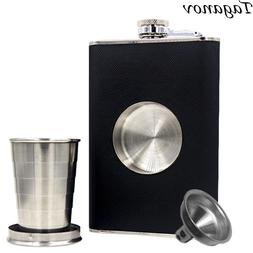 Alcohol Flagon Shot Flask Stainless Steel 8 <font><b>oz</b><