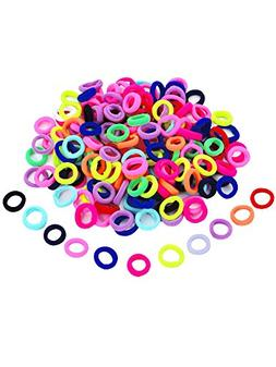 Hicarer 200 Pieces Assorted Colors Mini Hairbands Girl Baby'