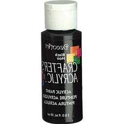DecoArt 2-Ounce Black Gloss Crafter's Acrylic Paint
