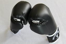 KIDS BOXING GLOVES BLACK/WHITE 2oz for 2-4 years young