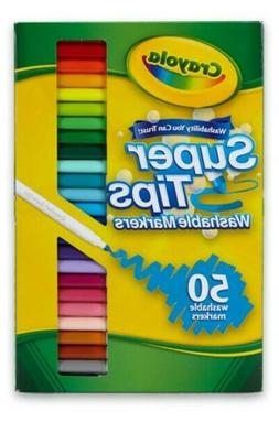 Crayola Super Tips Washable Markers 50 Colors Set  SAME-DAY