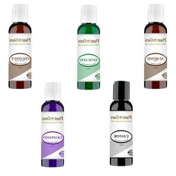 5 pc. Carrier Oil Variety Set Lot 2 oz. For Aromatherapy Ess