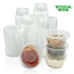 Condiment Cups - Jello Shots -2 oz. Clear Portion Containers