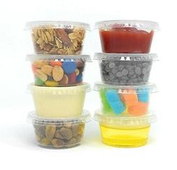 Condiment Cups with Lids, 2 oz Containers with Lids