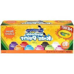 Crayola; Washable Kids' Paint; Art Tools; Neon Colors; 10