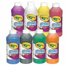 Crayola Washable Tempera Paint - Set of 8