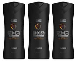 Pack of 3 Axe Dark Temptation Scent Cleansing Body Wash Refr