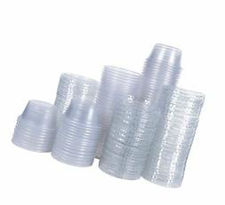 Disposable portion cups souffle cups with lids, set of 100