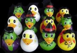 Dozen Assorted Halloween Costume Mini Rubber Ducks Ducky - 2