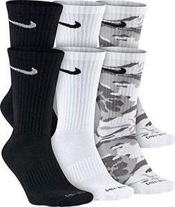 Nike Men's 6-Pair Pack Dri-FitCushion Crew Socks SX5707-900