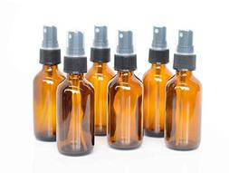 Everything4Oils 2oz Amber Glass Bottle with Pump for Essenti