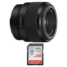 Sony FE 50mm F1.8 Lens & SanDisk 64GB SD Card