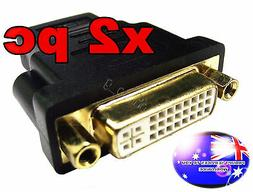 From OZ Quality 2PC HDMI to DVI-I 24+5 TV Monitor Adaptor Pl