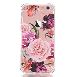 iPhone 6 Plus Case,iPhone 6S Plus Case with flowers, LUOLNH