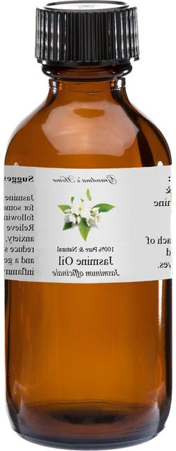 Jasmine Essential Oil - 2 oz - 100% Pure and Natural - Free