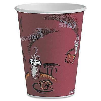 12 oz. Solo To Go Hot Drink Coffee Cafe Cups Paper Bistro De