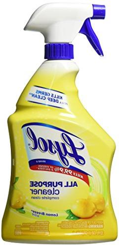 2 Pk, Lysol All-Purpose Cleaner Trigger, Lemon Breeze Scent,