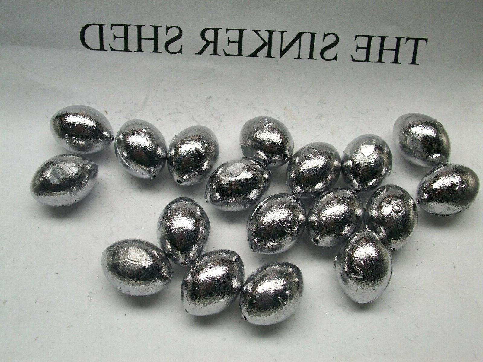 2 oz egg sinkers  - quantity of 5/10/20/30/40/50/100/200 - F