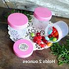 20 NEW Plastic 2 Ounce Empty Cosmetic Container Jar Pink Cap