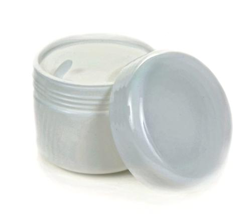 Vivaplex, 24, White, 2 oz Cosmetic Jars, with Liners and Dom