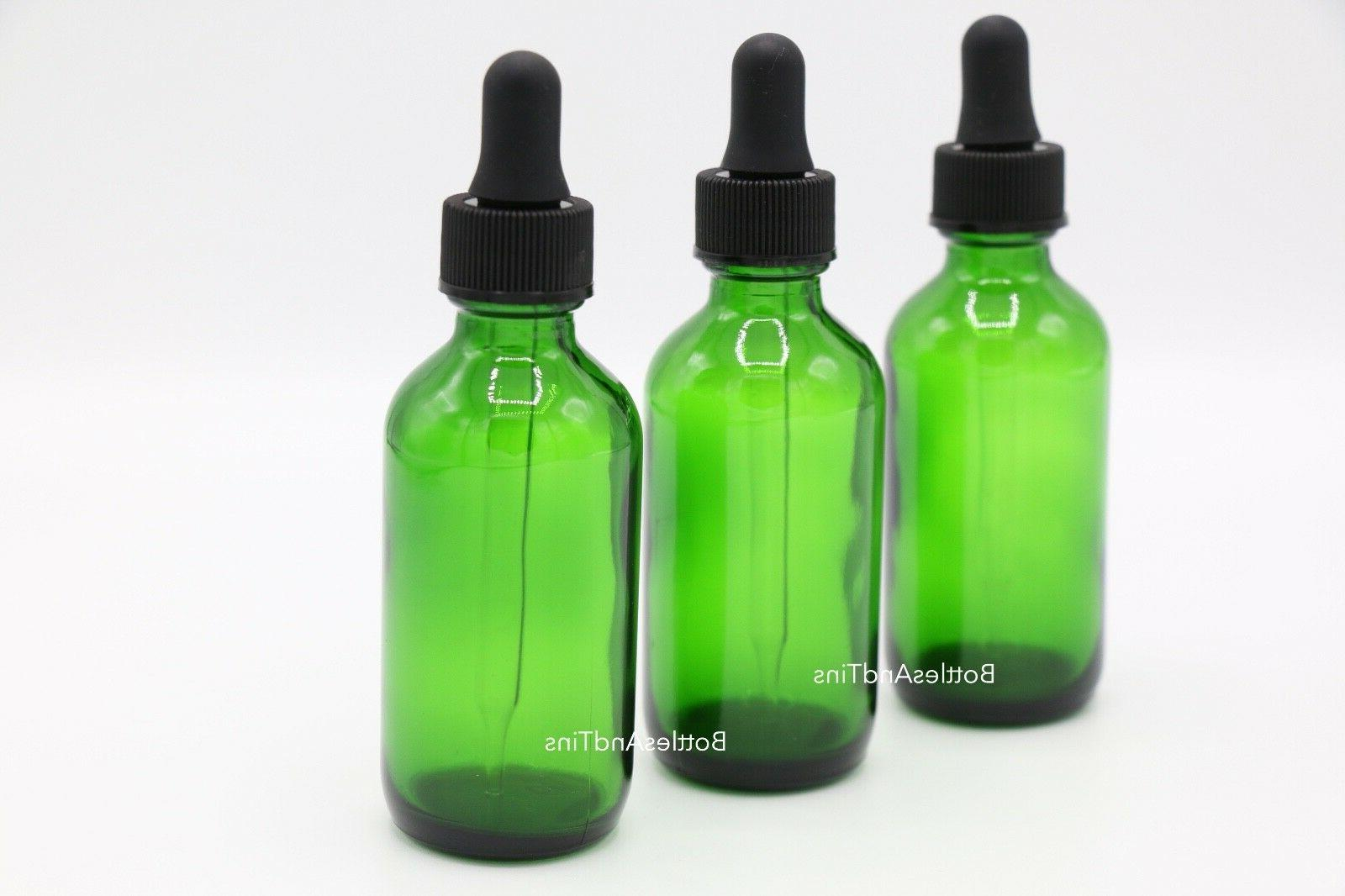 2oz  Glass Bottles for Essential Oils with Glass Eye Dropper