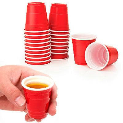 "48 Red ""Solo"" Cups 2 fl oz Plastic Shot Glasses Mini Disposa"