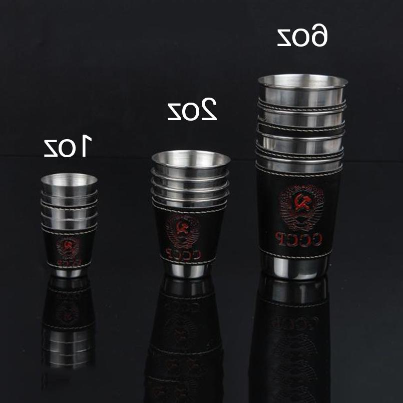 UPORS Flask Cup <font><b>OZ</b></font> Steel Cups With Cover Outdoor Whiskey