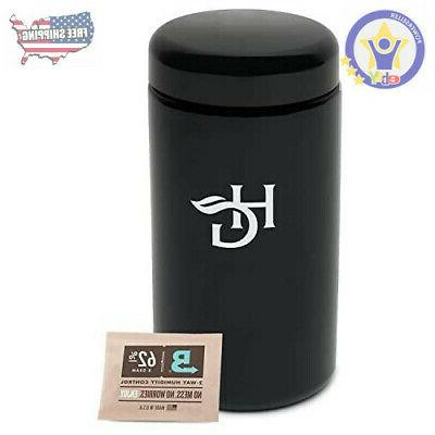 Herb Guard - 2 Oz Airtight Container & Smell Proof Stash Jar