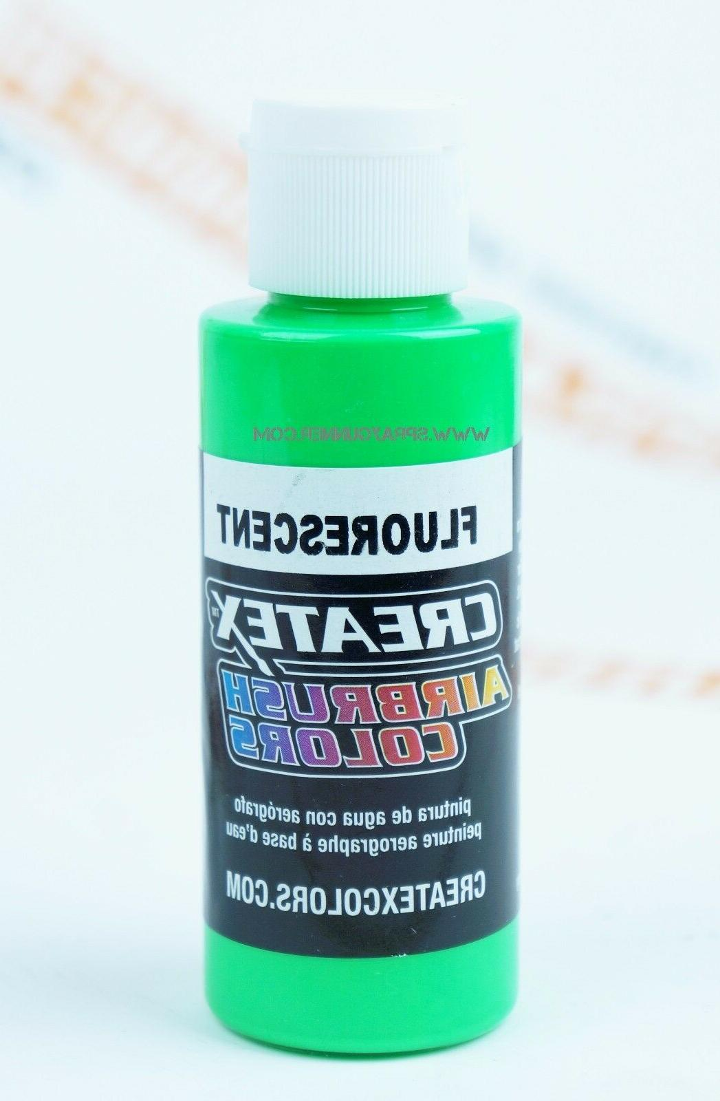 Createx Airbrush Colors 5404 Fluorescent Green 2oz. water-ba
